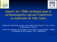 Apport de l 'IRM cardiaque dans la cardiomyopathie apicale ...