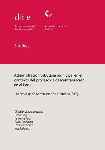 Administración tributaria municipal en el contexto del proceso de ...