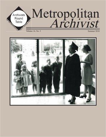 2010 no. 2 - Archivists Round Table of Metropolitan New York, Inc.