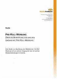 Studie PRE-ROLL-WERBUNG - MediaAnalyzer