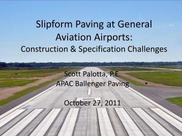 Slipform Paving at General Aviation Airports