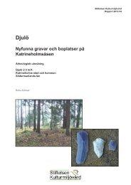 Stiftelsen Kulturmiljövård Rapport 2012:44. - KMMD