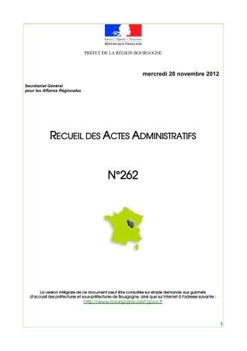 RAA 262 - Préfecture de la Côte-d'Or