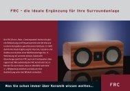 FRC – die Ideale Ergänzung für Ihre Surroundanlage - Isophon
