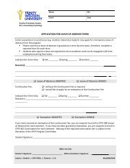 APPLICATION FOR LEAVE OF ABSENCE FORM Leave of Absence ...
