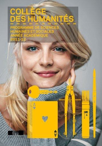 le programme de sciences humaines et sociales - CDH - EPFL
