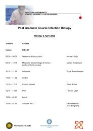 Post Graduate Course Infection Biology - Infection & Immunity