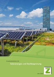 """Planungshilfe """"Solarenergie und Dachbegrünung"""" - ZinCo"""