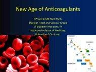 New Age of Anticoagulants - Ohio Chapter-ACC