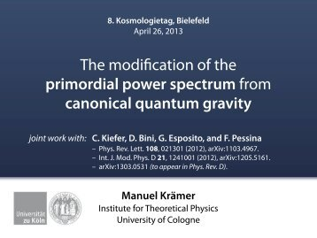 The modification of the primordial power spectrum from canonical ...