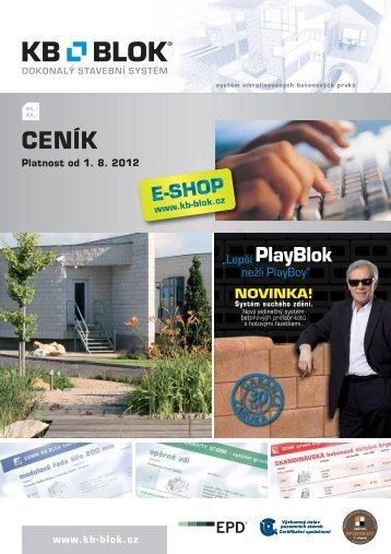 CENÍK betonová cihla KB KLASIK - KB - BLOK systém, sro
