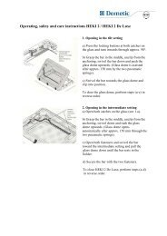 Heki 2 & 2DL operating instructions long push bar, dome has 3 ...