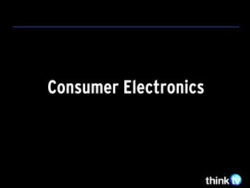 Consumer Electronics - Think TV