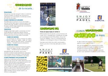 folleto INTENSIVOS VERANO 2012 - Ayuntamiento Villalbilla