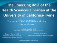 Librarians Online! Screen-sharing with Google+ ... - MLGSCA