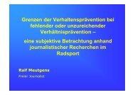 Vortrag Ralf Meutgens - Hamburger Sportbund e.V.