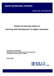 Impact of learning styles on learning-skill development in higher ...