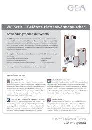 WP-Serie – Gelötete Plattenwärmetauscher - GEA PHE Systems
