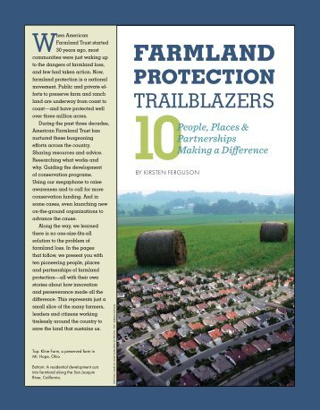 Farmland Protection [PDF] - American Farmland Trust