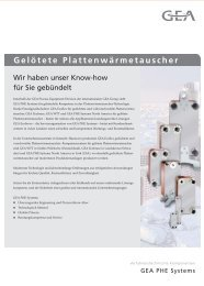 Gelötete Plattenwärmetauscher - GEA PHE Systems