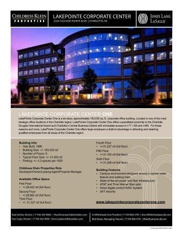 LaKePointe CorPorate Center - Jones Lang LaSalle