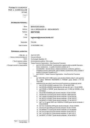 Formato Europeo Per Il Curriculum Vitae Modello Asl Sa 3