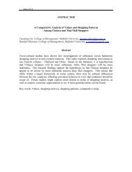 Comparative Analysis of Values and Shopping Patterns Among ...