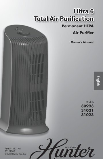 Owner's Manual - Hunter Fan