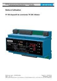 Notice d'utilisation - Ziehl industrie-elektronik GmbH + Co KG