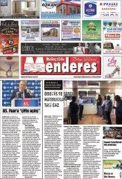 23 Ağustos tarihli Küçükmenderes Gazetesi