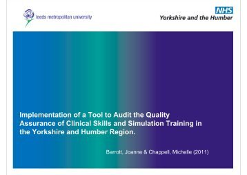 Implementation of a Tool to Audit the Quality Assurance of Clinical ...