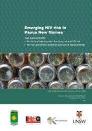 Emerging HIV risk in Papua New Guinea - School of Public Health ...