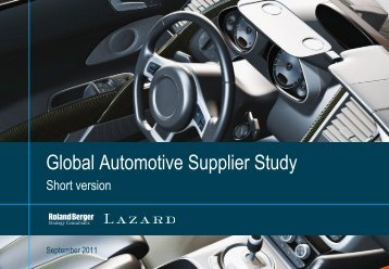 Global Automotive Supplier Study 2010 - Roland Berger