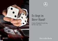 Es liegt in Ihrer Hand! - Mercedes Benz