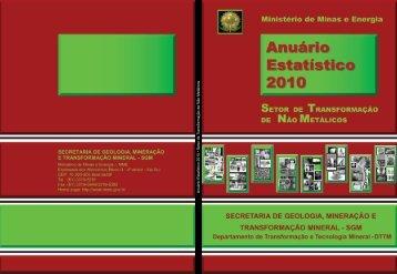Anuário Estatístico 2010 • Setor de T ransformação de Não Metálicos