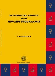 Integrating Gender into HIV/AIDS Programmes - libdoc.who.int ...