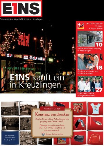 E1NS kauft ein –  in Kreuzlingen - E1NS-Magazin