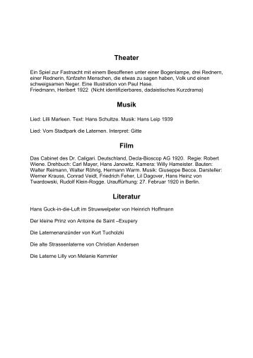 Theater Musik Film Literatur