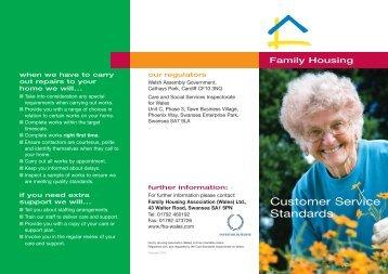 Customer Service Standards - Family Housing Association (Wales)