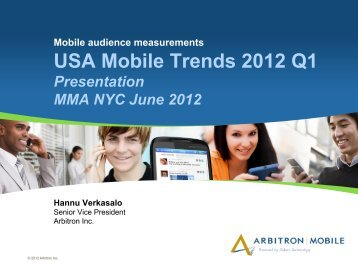 USA Mobile Trends 2012 Q1 - Mobile Marketing Association