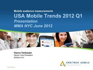 USA Mobile Trends 2012 Q1 - Mobile Marketing Association