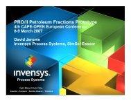 PRO/II Petroleum Fractions Prototype - CO-LaN