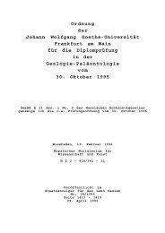 Ordnung der Johann Wolfgang Goethe-Universität Frankfurt am ...