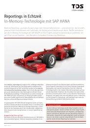 in memory Technologie mit SAP HANA - TDS AG - Fujitsu