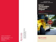 School Transportation Supervisors Program - Center for ...