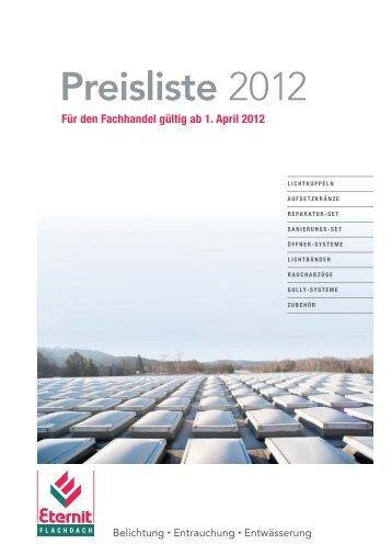 Preisliste 2012 - Eternit Flachdach GmbH