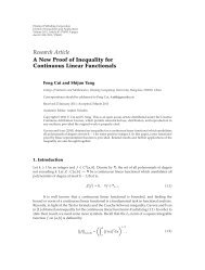 A New Proof of Inequality for Continuous Linear Functionals