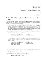 Tugas #1 Pemrograman Komputer III - Weblog-e Dwi Sakethi