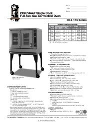 Single Deck, Full-Size Gas Convection Oven - CKitchen.com
