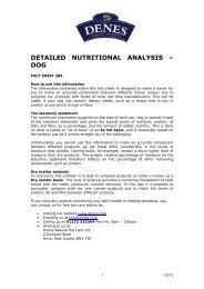 detailed nutritional analysis – dog - Denes Natural Pet Care